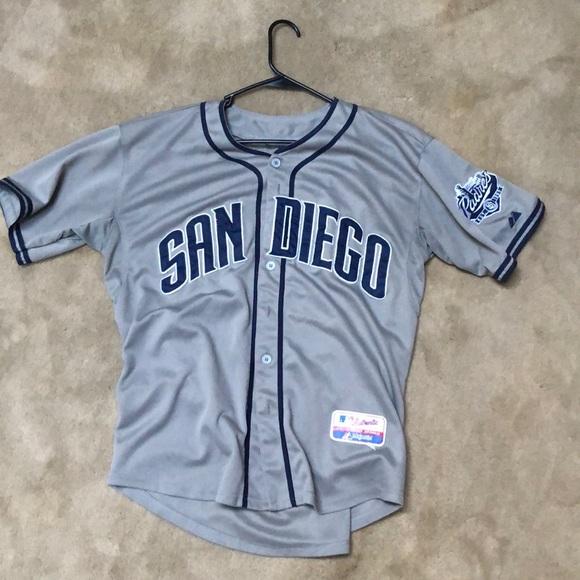 new style 802b5 579c5 Stitched Johnny Manziel Padres Jersey